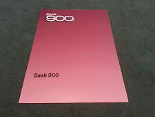 MINT 1985 Model SAAB 900 CARBURETTOR MODELS - UK COLOUR FOLDER BROCHURE