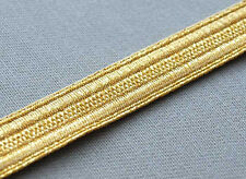 5 Yards. Gold Military Braid. Pilot Galon. Uniform. Army, Navy. Vestment Trim