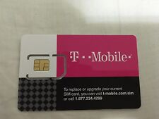 T-MOBILE PRE-ACTIVATED PREPAID SIM NO CONTRACT PAYGO $3/month. Nano sim