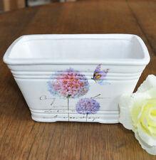 #10356 Deko Jardiniere Pflanztopf Keramik Schneeball Shabby Garten