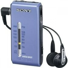 F/S Sony Stereo FM/AM pocket Radio Blue  SRF-S86 L Freeshipping From japan