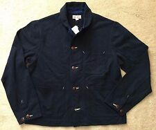 New J Crew Wallace & Barnes Men's Navy Knit Chore Coat $198 Sz M 08343 Sold Out!