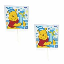 24 WINNIE THE POOH 1ST BIRTHDAY LOLLIPOPS CANDY FOR PARTY FAVORS MADE IN U.S.A