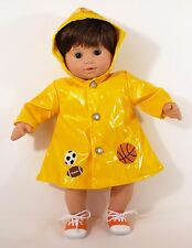 FOR AMERICAN GIRL BITTY BABY TWINS BOY RAINCOAT WITH SNEAKERS, CLOTHES