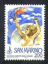 San Marino 1978 Flame/Declaration of Human Rights/Welfare/UN/People 1v (n37012)