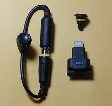 Black Headphone ADAPTER + Dock Extender + Screw for iPhone 5 LifeProof Cases