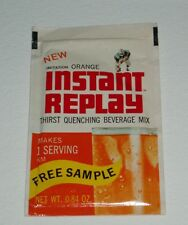 1960's GM Foods INSTANT REPLAY Drink Mix package Free Sample
