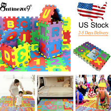 36Pcs Soft EVA Foam Baby Kids Play Mat Toy Alphabet Number Puzzle Jigsaw 12*12cm