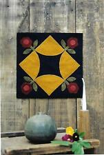 REPRODUCTION WOOL BED RUG QUILT PATTERN - BLOCK #6 OF 20 PENNY RUG