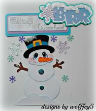 ELITE4U SNOWMAN paper piecing premade scrapbook album page die cut 3d WOLFFEY5