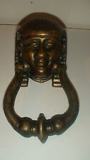 ANTIQUE BRONZE EGYPTIAN  REVIVAL PHARAOH,S HEAD DOOR KNOCKER   NOT A REPRO