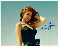 TINA LOUISE hand-signed BUSTY YOUNG & SEXY 8x10 COLOR CLOSEUP authentic w/ COA