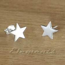 1 PAIR OF SOLID 925 STERLING SILVER SMALL STAR STUD EARRINGS (J064)