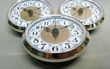 """3-PACK CLOCK FIT UP FANCY Gold & White, Arabic numbers, 2 3/4"""""""" dia, (#273) NEW"""