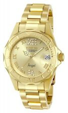Invicta Women's Angel Quartz 200m Gold Plated Stainless Steel Watch 14397
