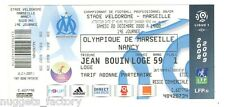 Billet / Place Olympique de Marseille - OM vs Nancy - 2008 ( 001 )