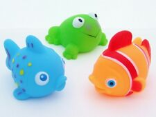 Nemo Fish Frog & Blue Fish Bath Squirters Squeaky Animal Set of 3 Baby Toys