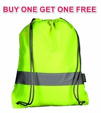REFLECTIVE FLUORESCENT YELLOW DRAW STRING KIDDIES SPORTS BAG BUY 1 GET 1 FREE