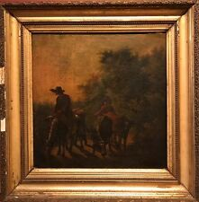 FINE 17/18TH CENT. DUTCH OLD MASTER OIL PAINTING - BERGERS WITH CATTLE AT SUNSET