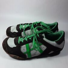 NICE Women's Diesel Remy Leather Walking Shoes-Brown/Light Gray/Green-5.5