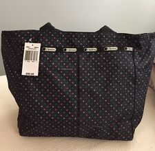 Lesportsac Every Girl Tote In Black Nauticool Style 7891D684-With Pouch-NWT