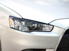 Mitsubishi Lancer X 2011 paintable headlights eyebrows, gloss, 2 pcs.