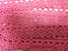 Cotton Lace Trim crochet edging hem ribbon fabric border applique decorative x1m
