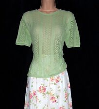 BNWT Laura Ashley vintage spring 97 pistachio short sleeve lace jumper, medium