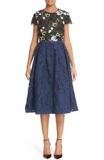 Erdem Shirley Floral Embroidered Lace & Jacquard Dress 12 US / 48 IT  NWT $3,285