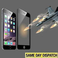 Genuine Tempered Glass Full Screen Protector Black EDGE For Apple iPhone 7 4.7""