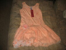 AMERICAN GIRL NEW!  Shimmer and Lace Party Dress For Girls PEACH SIZE 14..EASTER