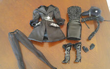 BARBIE SILKSTONE OUTFIT - RUSSIAN- 'VERUSHKA ' BLACK DRESS & COAT & HAT - CUTE