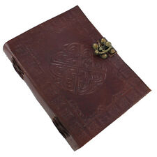 Leather Handmade Warrior's Protection Celtic Shield Knot Journal Diary