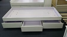 Single Size Bed Base with 3 Drawers All White Kids Girls Boys Children Furniture