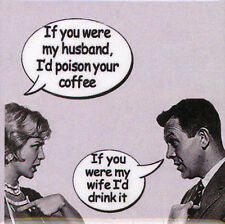 50'S COFFEE RETRO VINTAGE ART FUNNY METAL FRIDGE MAGNET #0056