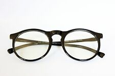 Designer Keyhole Clear Lens Men's Women's Round Eye Glasses Vintage Black Frame