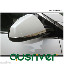 2Pcs New Car Auto Wing Side Mirror Chrome Cover Decoration Trim for Cadillac SRX