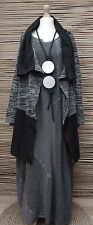 LAGENLOOK*KEKOO*COTTON MIX QUIRKY JERSEY JACKET*ANTHRACITE MARL*Size 48-50-52