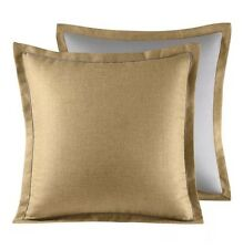2 Croscill Normandy  Wheat Euro Pillow Shams  Set Pair