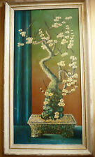 $295 OR BEST! Mystery CA mod Asian Modernist modernism mod Oil Signed BRANDT