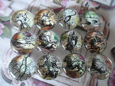 12 Zodiac Horoscope Cabochon/ beads 20mm for crafting, jewellery making hobby