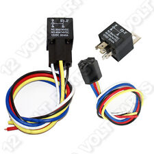 12V/12 Volt 30/40A SPDT 5 Pin Automotive Relay with Wire Socket / Wiring Harness