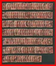 Set of 150 SG. 43/44 1d Reds. Plates 71 - 224. GOOD USED. EXCLUDES PLATE 77.