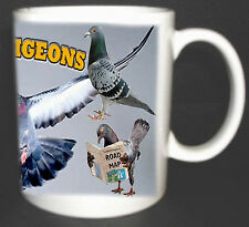 RACING PIGEONS COFFEE MUG, LIMITED EDITION, I LOVE PIGEONS NEW XMAS GIFT