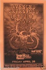 AVENGED SEVENFOLD /COHEED CAMBRIA 2006 SAN DIEGO CONCERT TOUR POSTER-Heavy Metal