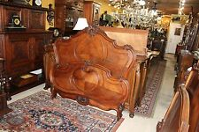 Beautiful Antique French Rosewood Louis XV Queen Size Bed .