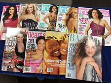 """LOT OF (9) MAGAZINES BACK ISSUES- """"INSTYLE"""" -HARPERS-MIRABELLA- ESSENCE-OTHER"""