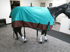New 1200D Heavy Winter Horse Turnout Blanket / Teal / Brown 82""