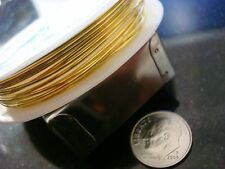 Gold plated copper round wire 18ga wire wrapped jewelry bead wire 8.2 feet pw008