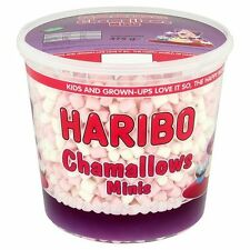 Haribo Chamallows Minis – White & Pink – 475g Tub – Marshmallows Catering